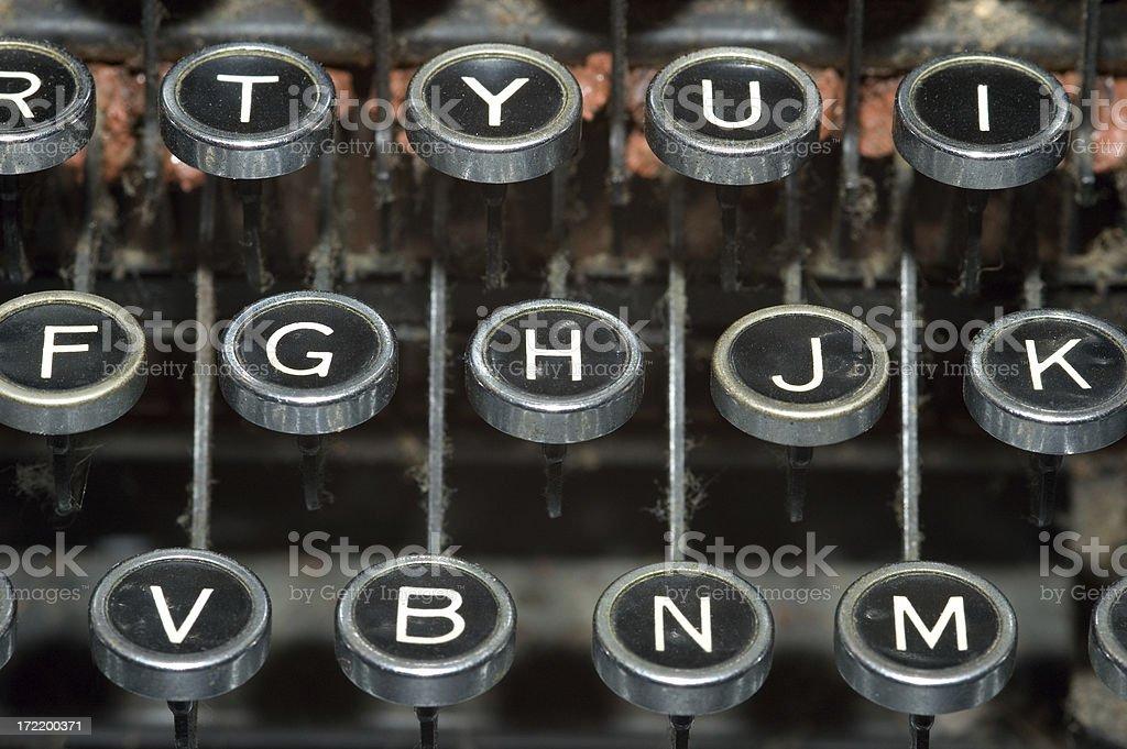 Antique Typewriter Keys royalty-free stock photo