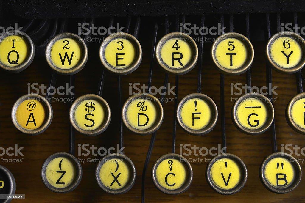 Antique Typewriter Qwerty Keyboard royalty-free stock photo