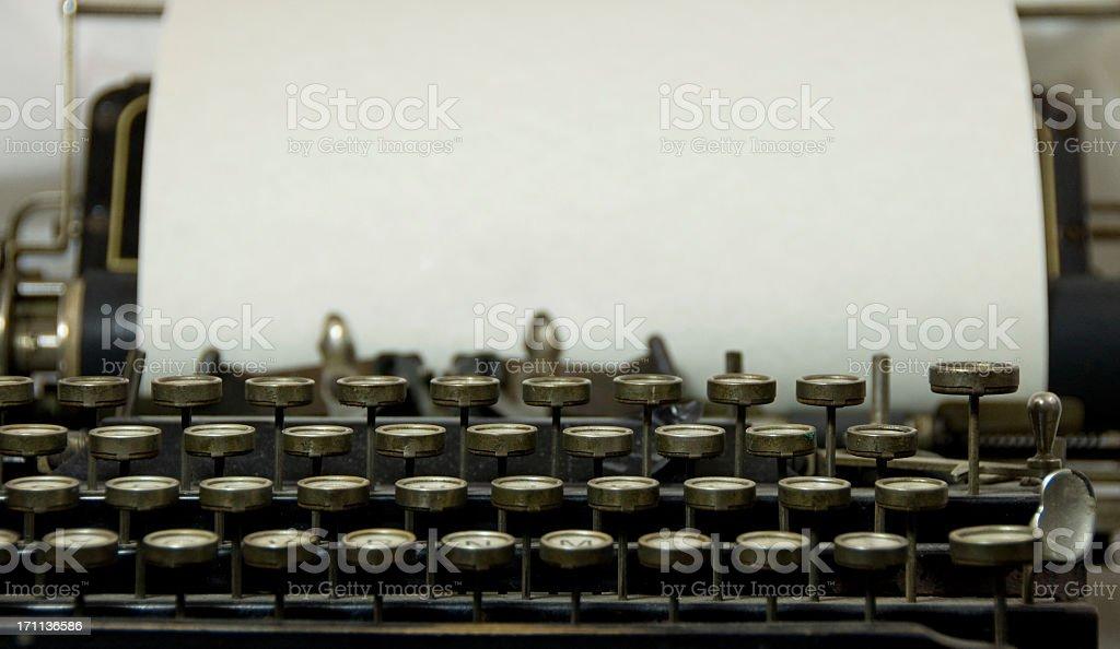 Antique Typewriter with Copy stock photo
