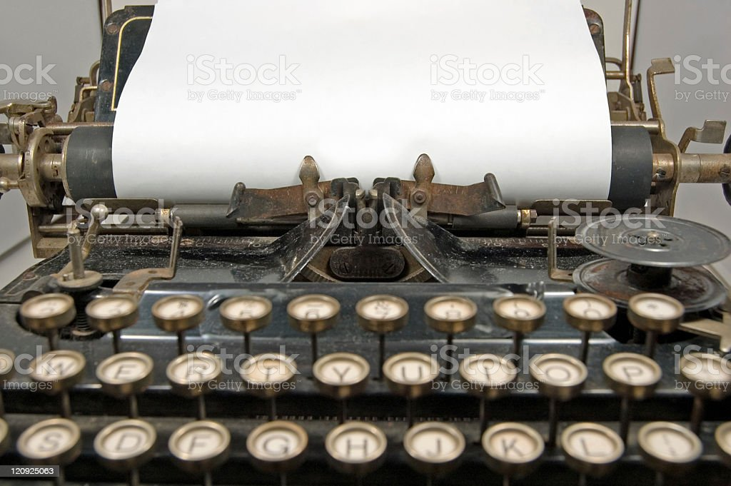 Antique typewriter with Copy Space royalty-free stock photo
