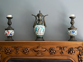 Antique vases in the room