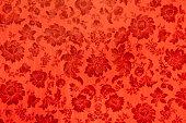 istock Antique velvet wall, Red flower texture 168470362