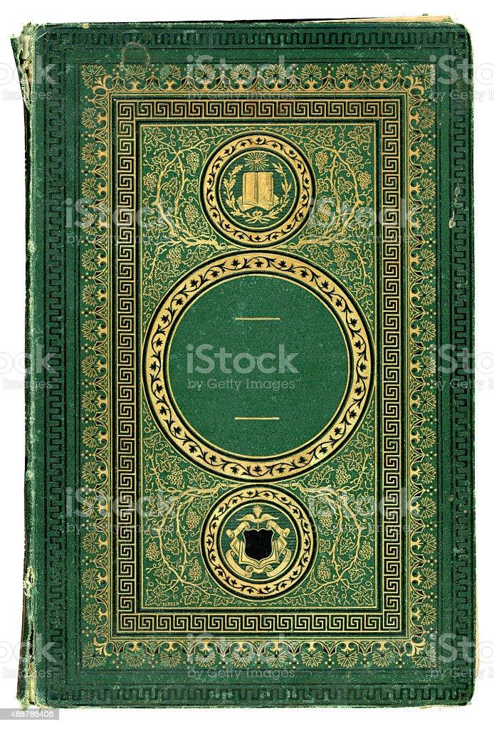 Antique victorian book cover stock photo