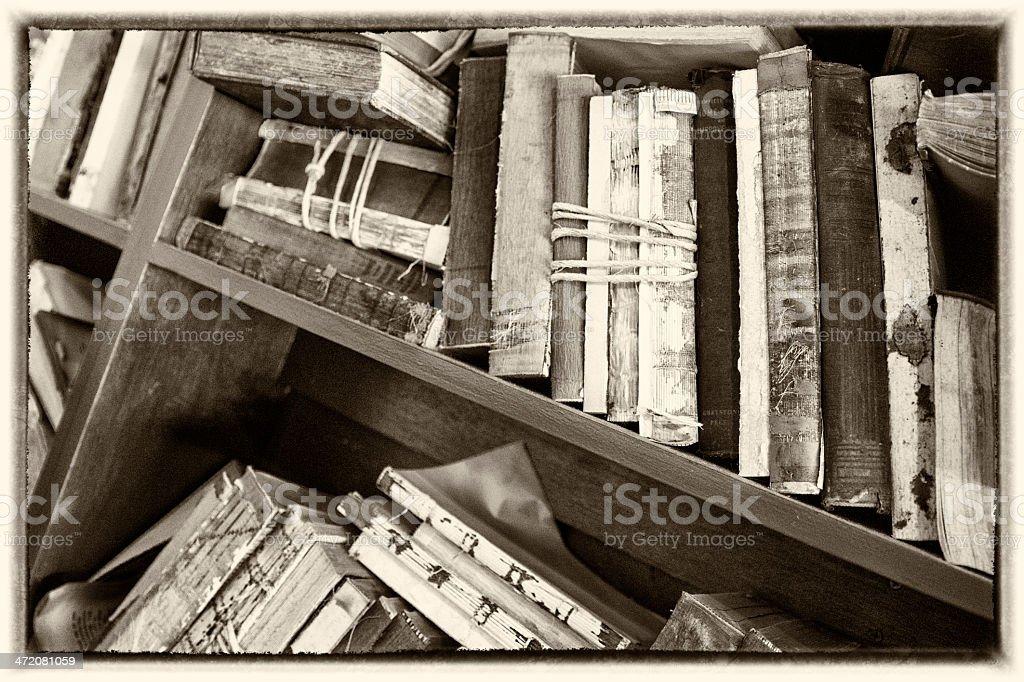 Antique Vintage Books royalty-free stock photo