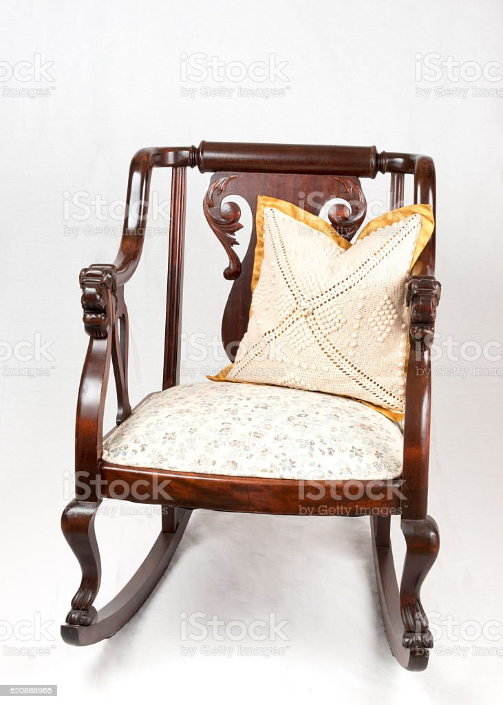Antique /vintage Rocking Chair From The 1930s. Stock Photo