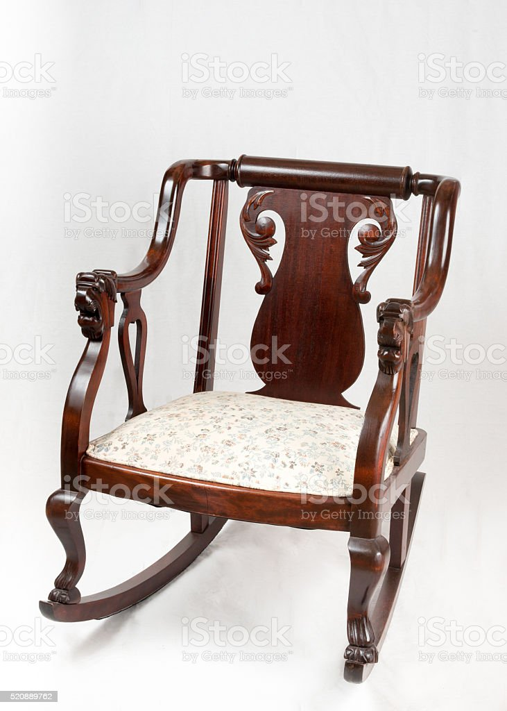 Royalty Free Silhouette Of A Old Man Rocking Chair Pictures