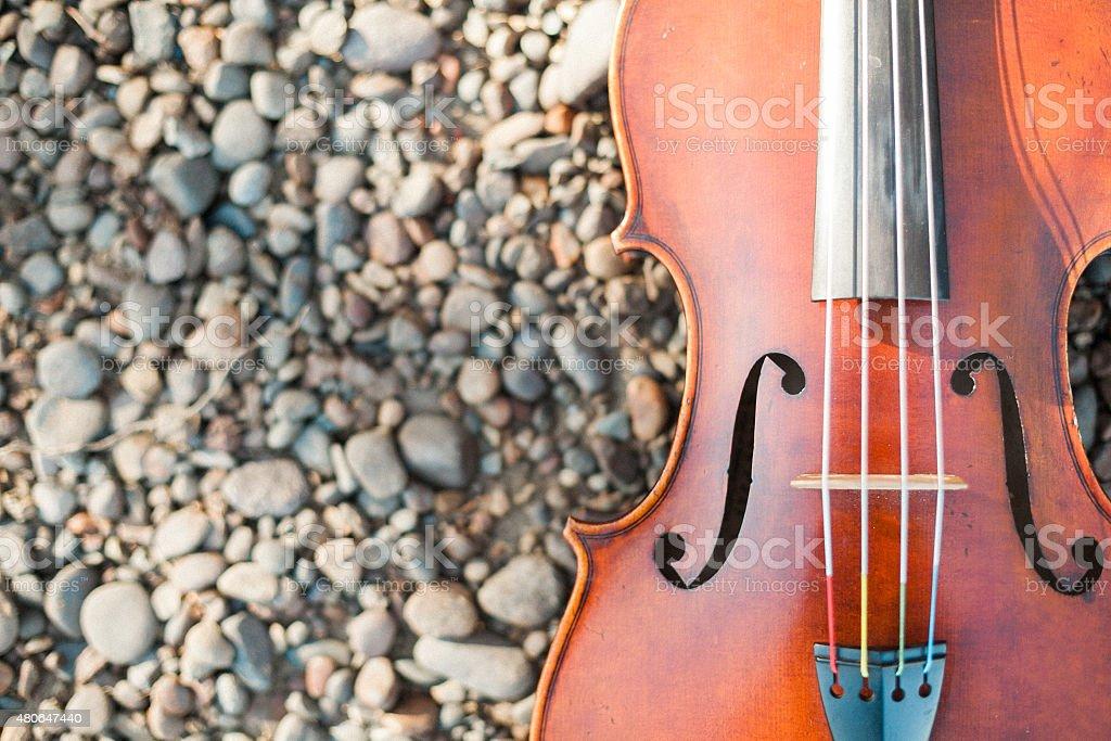 Antique Viola/Violin stock photo