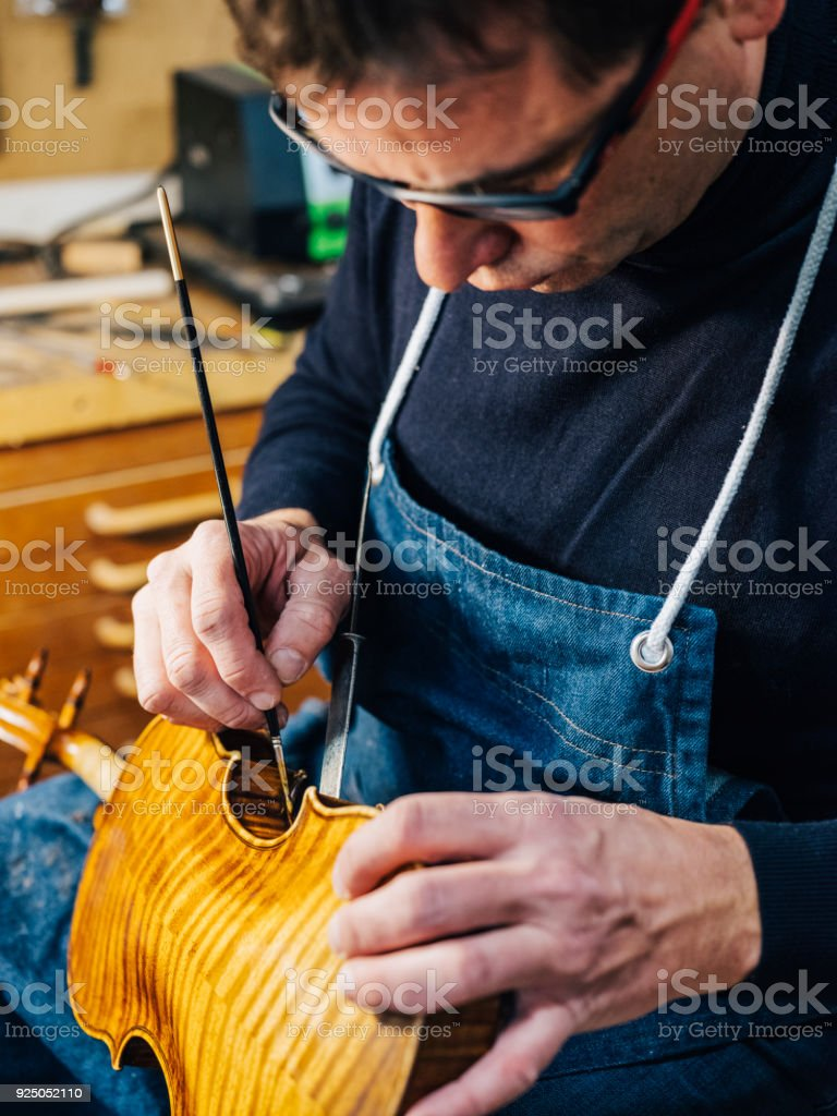 Antique Violin Luthier royalty-free stock photo