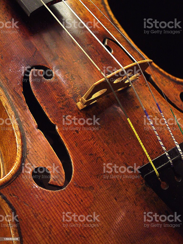 Antique violin royalty-free stock photo