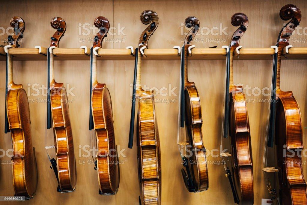 Antique Violin Repair Shop royalty-free stock photo