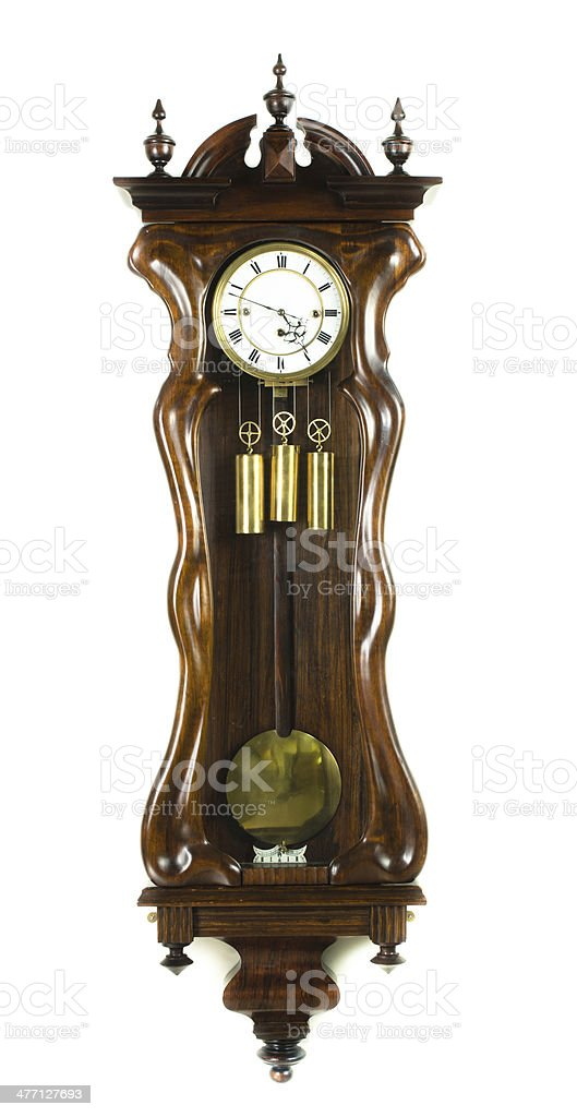 Antique Wall Clock, Austria, Circa 1875 royalty-free stock photo