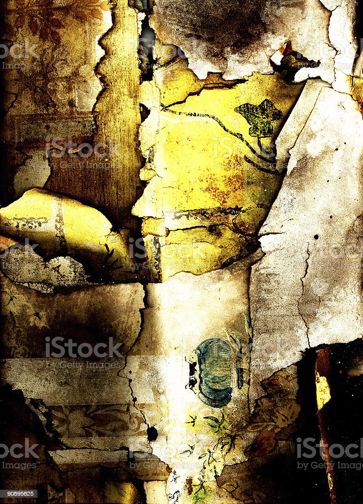 Antique Wall paper royalty-free stock photo