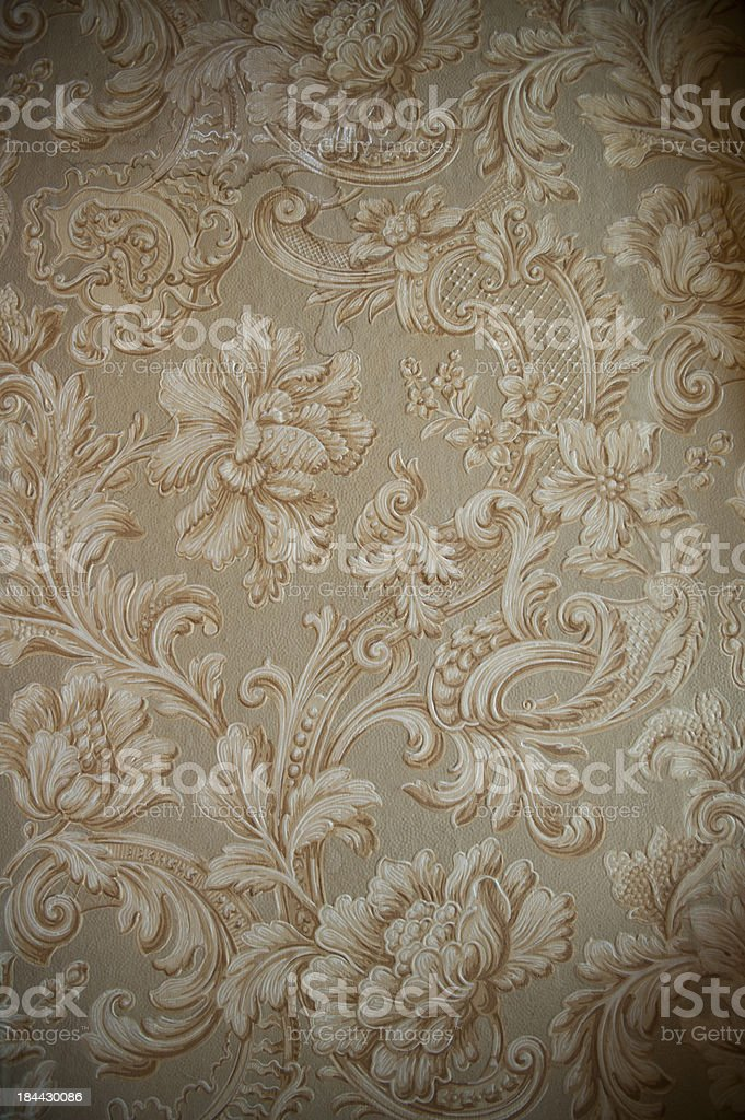 Antique wallpaper - Texture royalty-free stock photo
