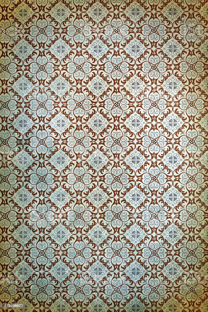 Antique Wallpaper – Victorian Style royalty-free stock photo