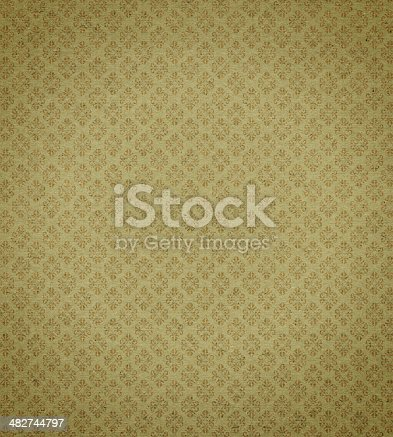 istock Antique wallpaper with gold leaf background texture 482744797