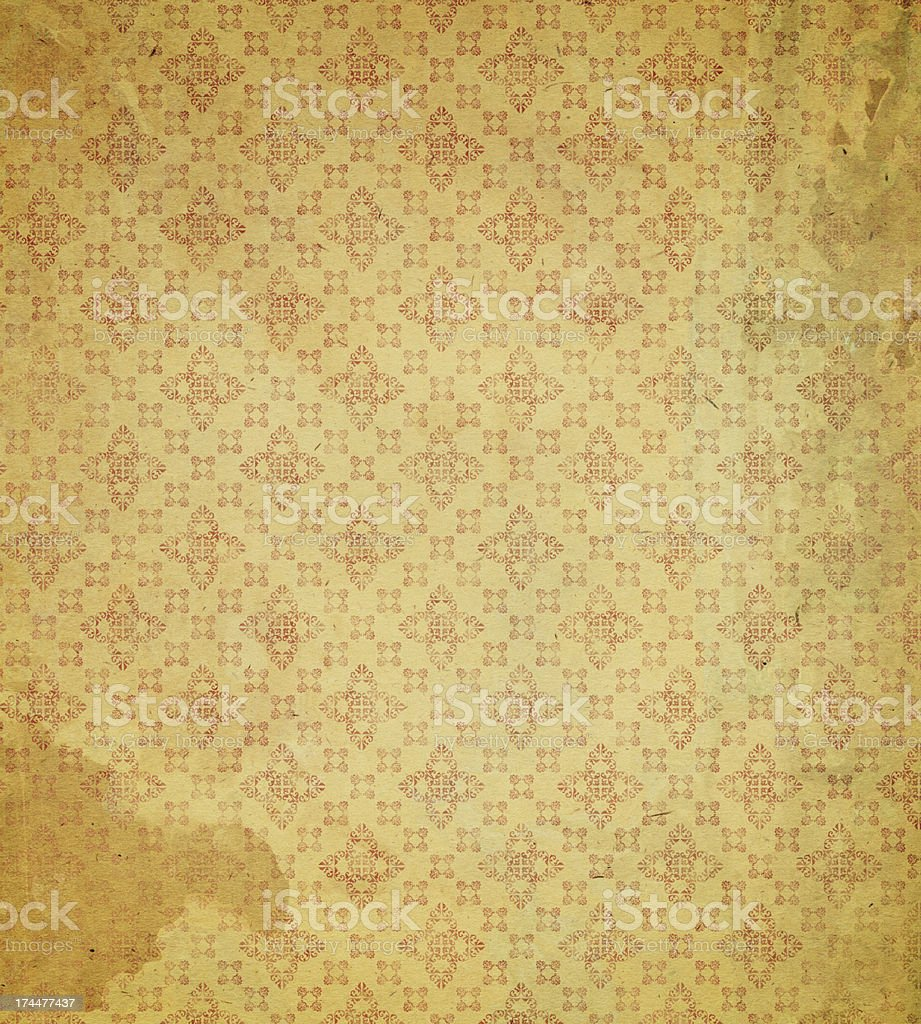 antique wallpaper with pattern stock photo