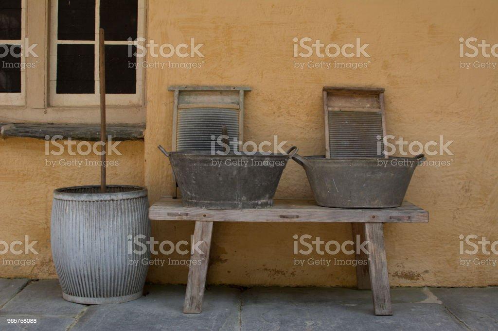 Antieke Washing Equipment - Royalty-free Antiek - Ouderwets Stockfoto