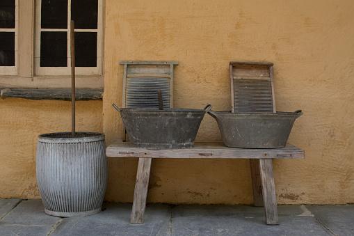Antieke Washing Equipment Stockfoto en meer beelden van Antiek - Ouderwets