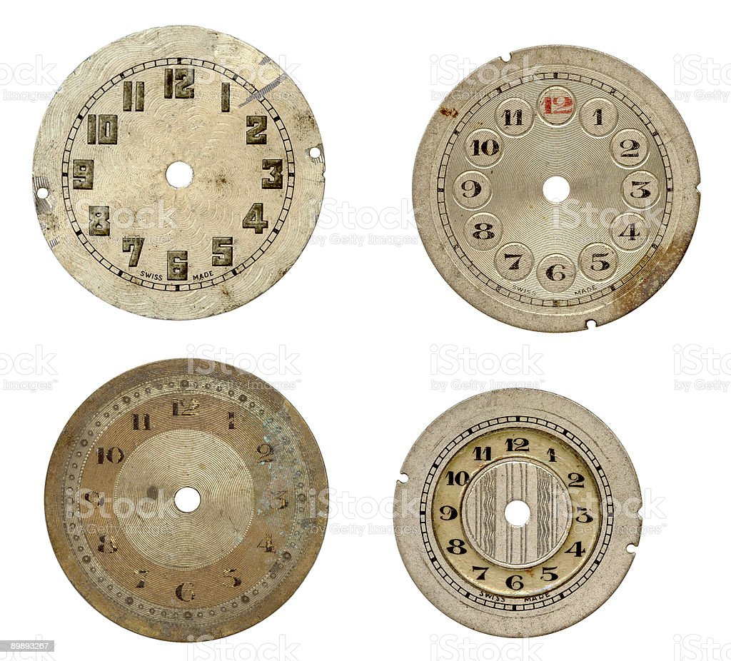 Antique watch faces royalty-free stock photo
