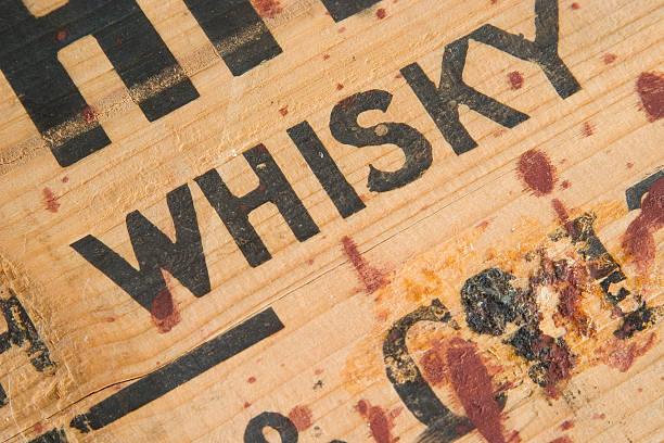 Alten Whiskey Box-Detailarbeit – Foto
