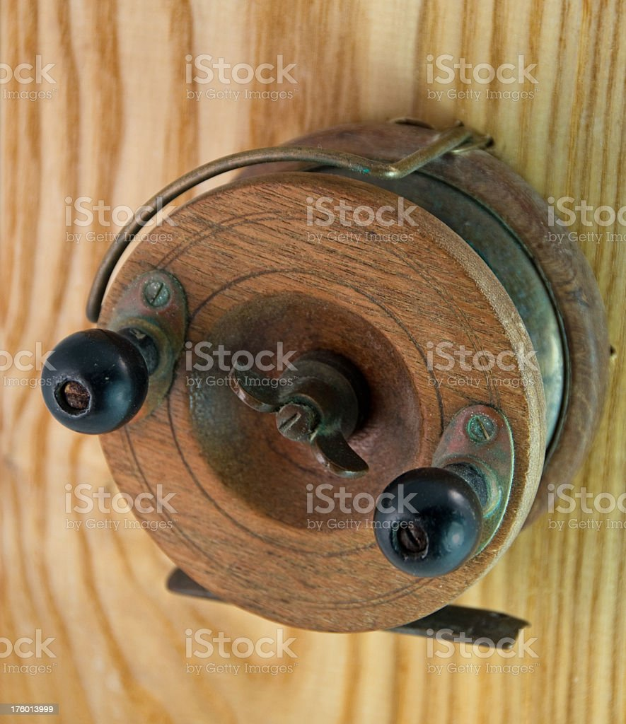 Antique Wood Fishing Reel Stock Photo & More Pictures of Antique ...