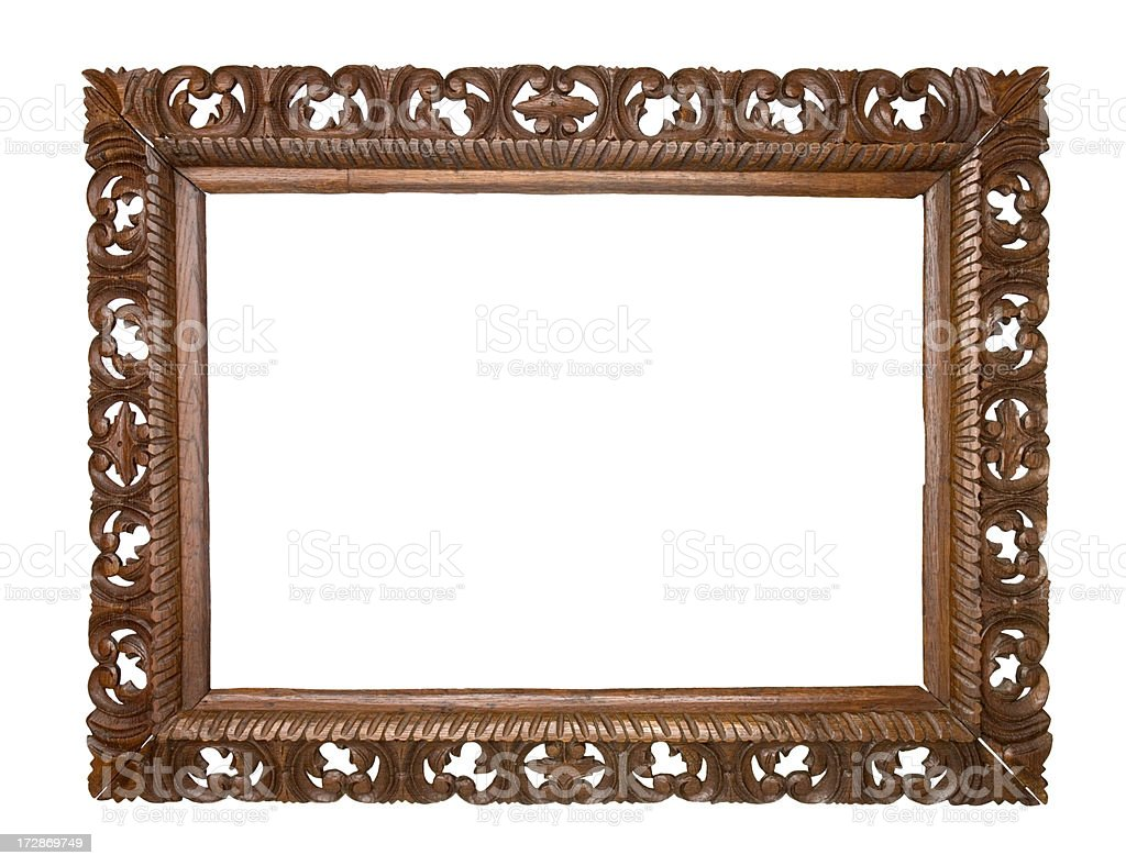Antique wooden frame. royalty-free stock photo