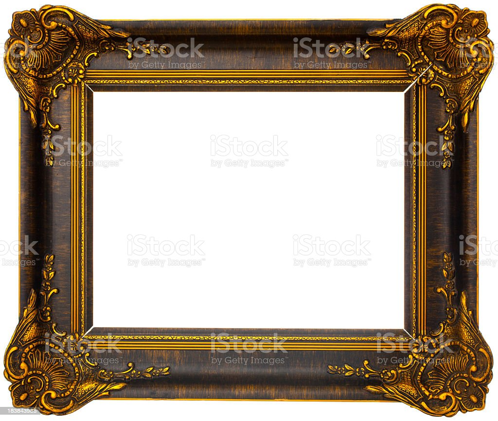Antique wooden frame royalty-free stock photo