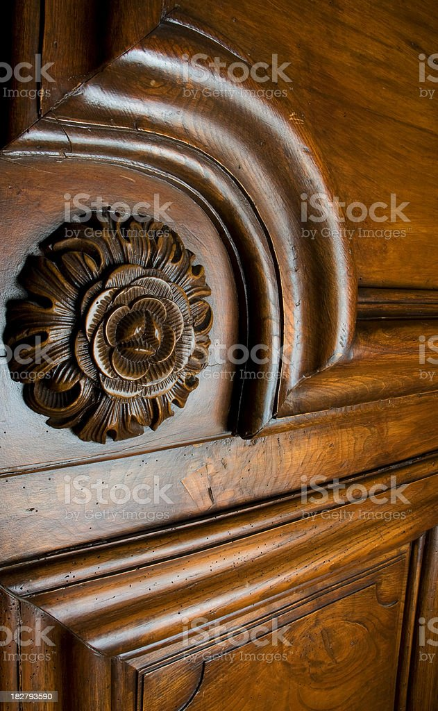 Antique Wooden Furniture Detail royalty-free stock photo