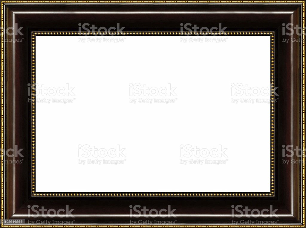 Antique wooden picture frame royalty-free stock photo