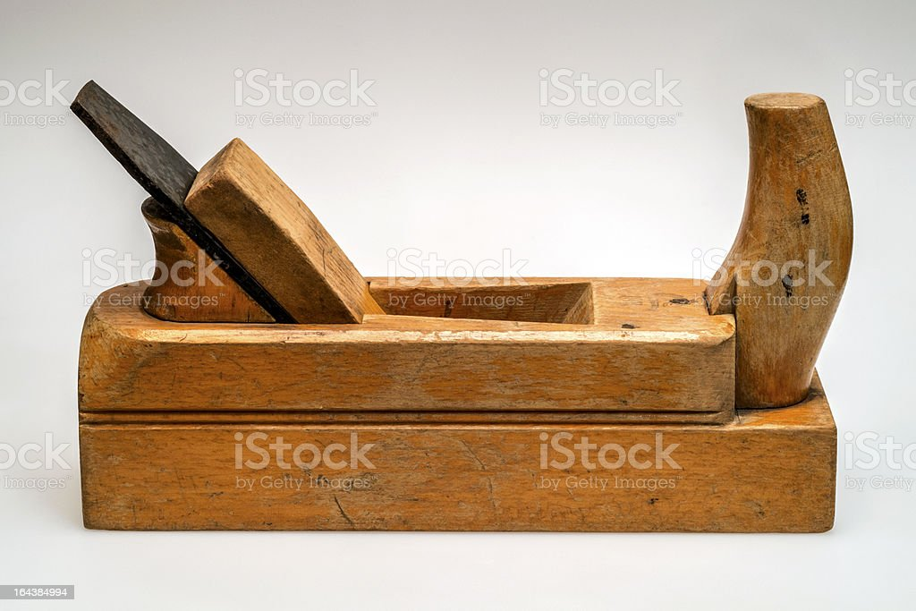 Antique Wooden Plane stock photo