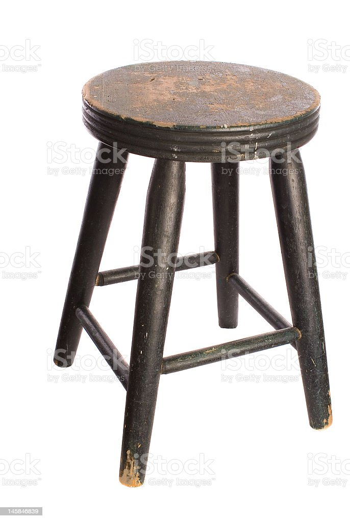 Antique Wooden Stool royalty-free stock photo