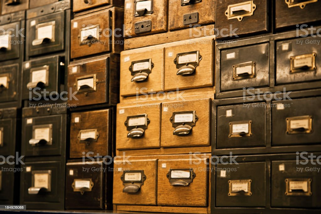 Antique wooden storage boxes royalty-free stock photo