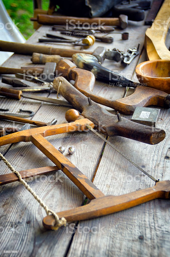 Antique Woodworking Tools Stock Photo Download Image Now Istock