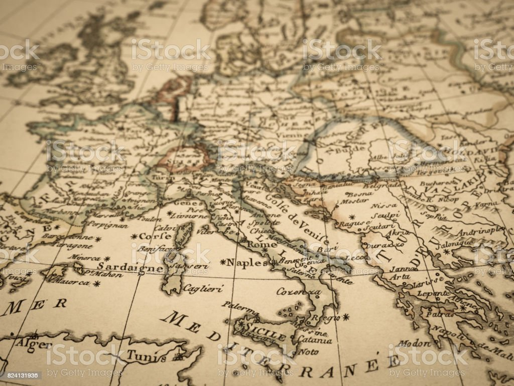 Antique World Map Europe Stock Photo More Pictures Of 18th Century