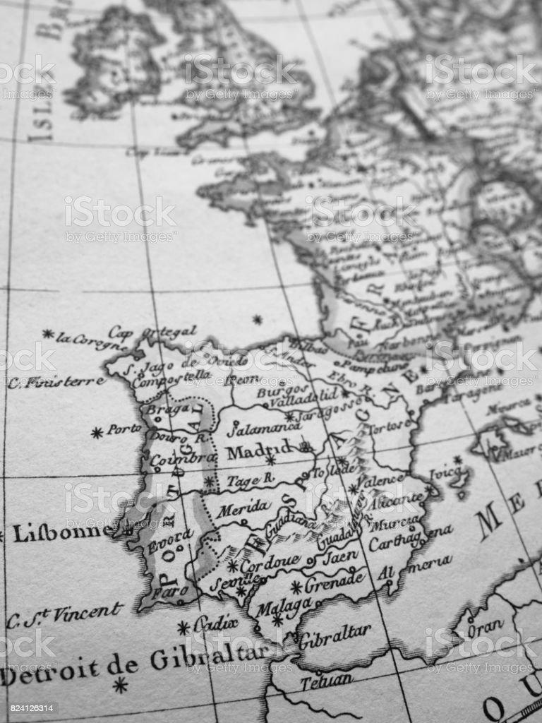 Iberia World Map.Antique World Map Iberia Peninsula Stock Photo More Pictures Of