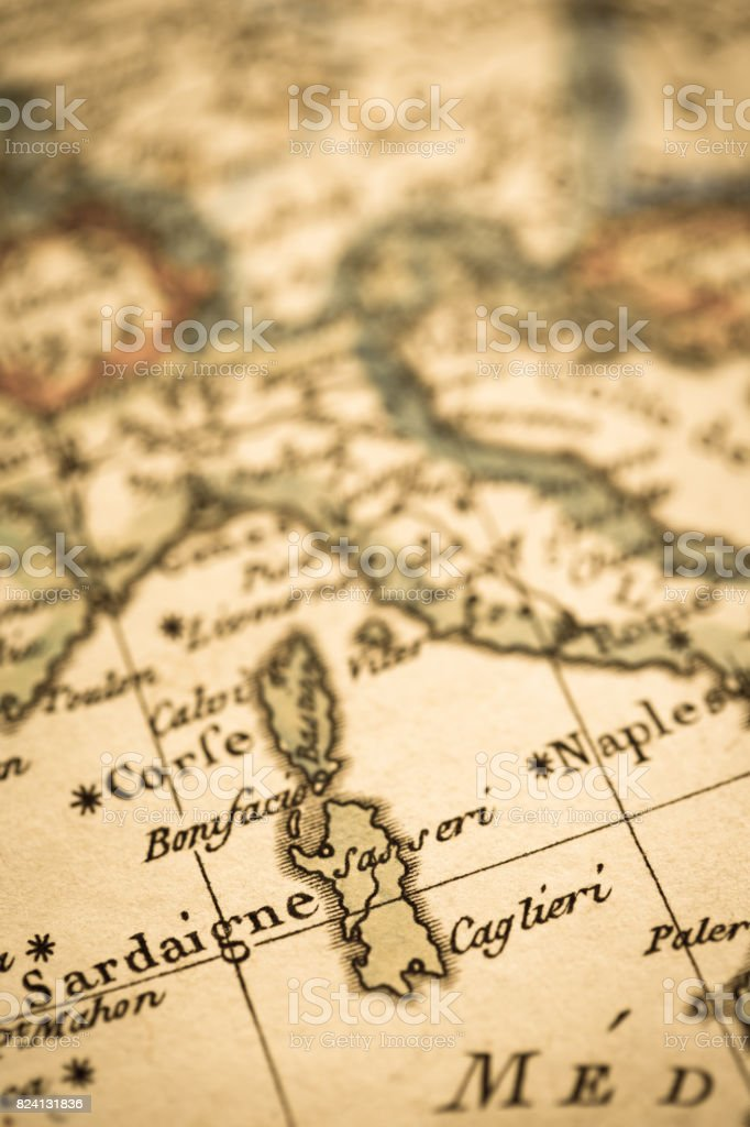 Antique World Map Mediterranean Stock Photo & More Pictures of 18th ...