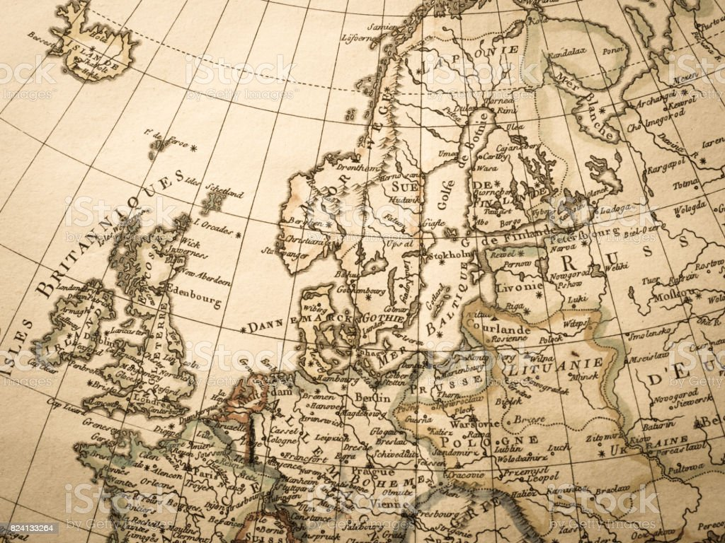 antique world map northern europe royalty free stock photo