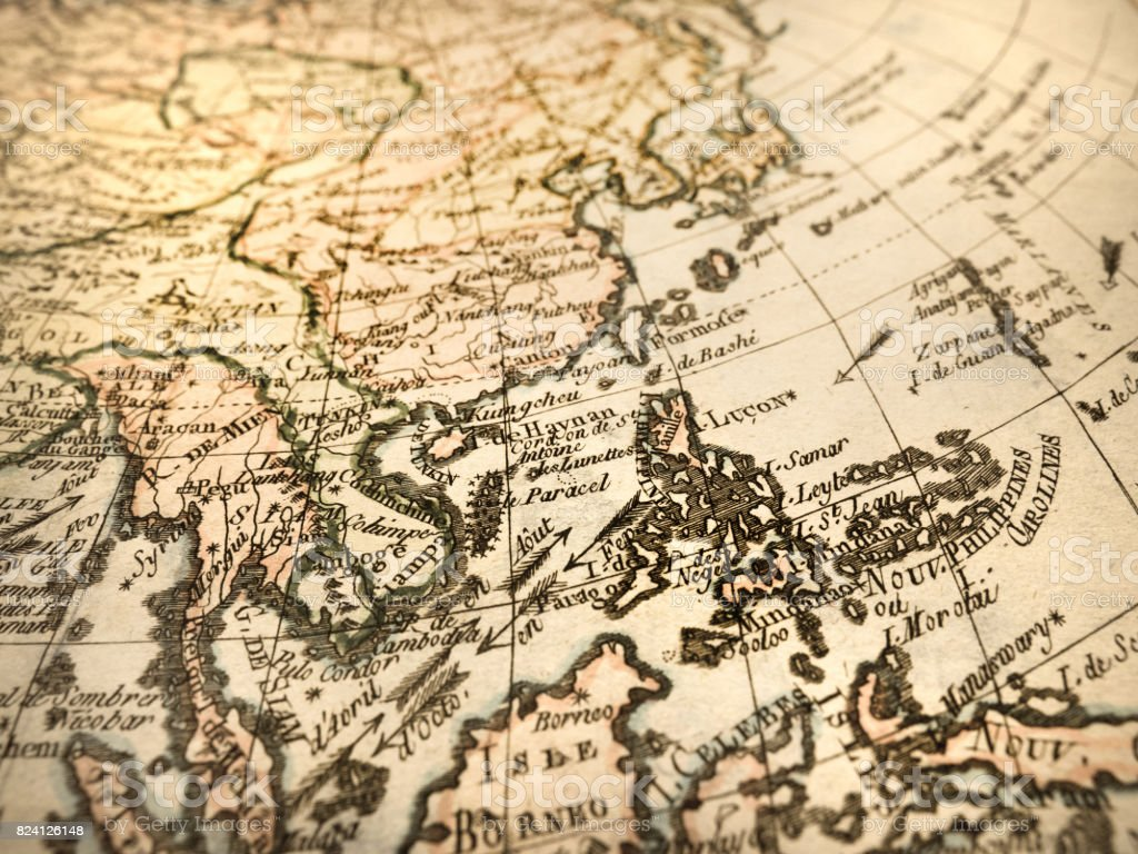 World Map Of Southeast Asia.Antique World Map Southeast Asia Stock Photo More Pictures Of 18th
