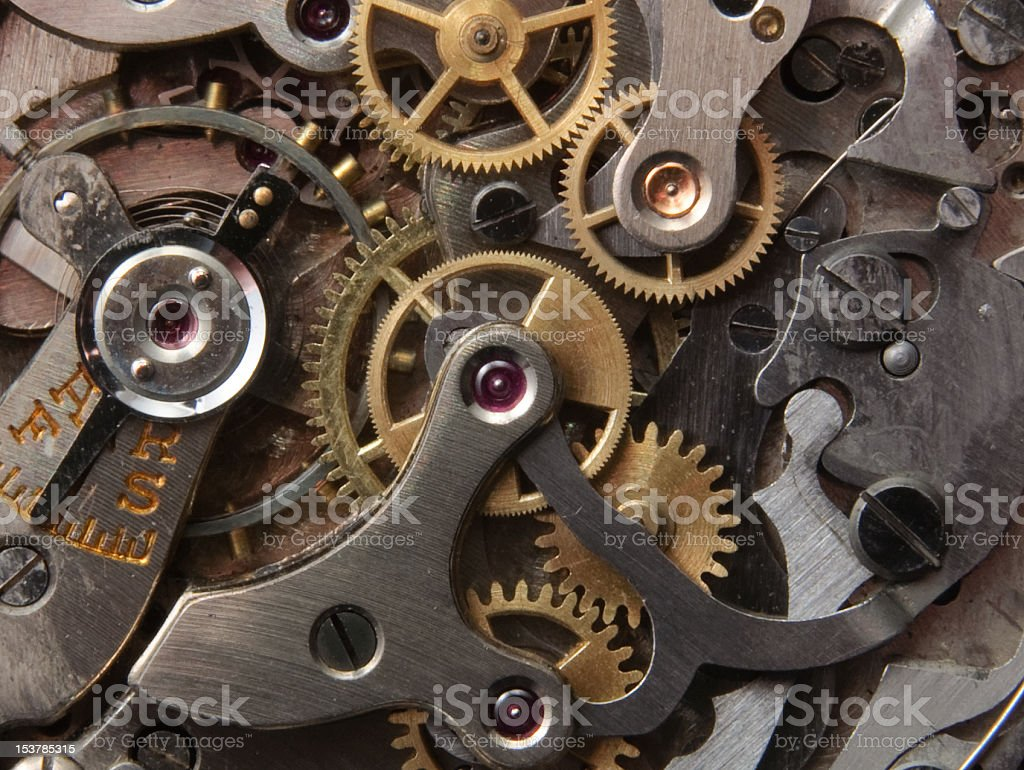 Antique Wristwatch Mechanism stock photo
