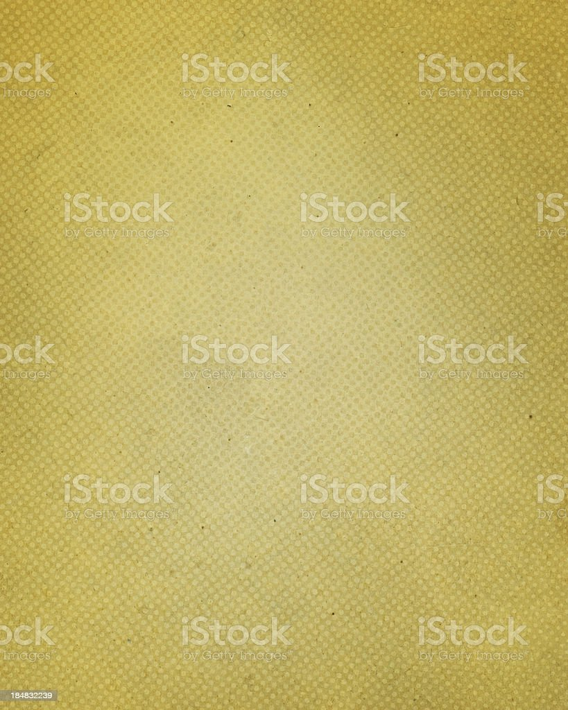 antique yellow paper with halftone stock photo