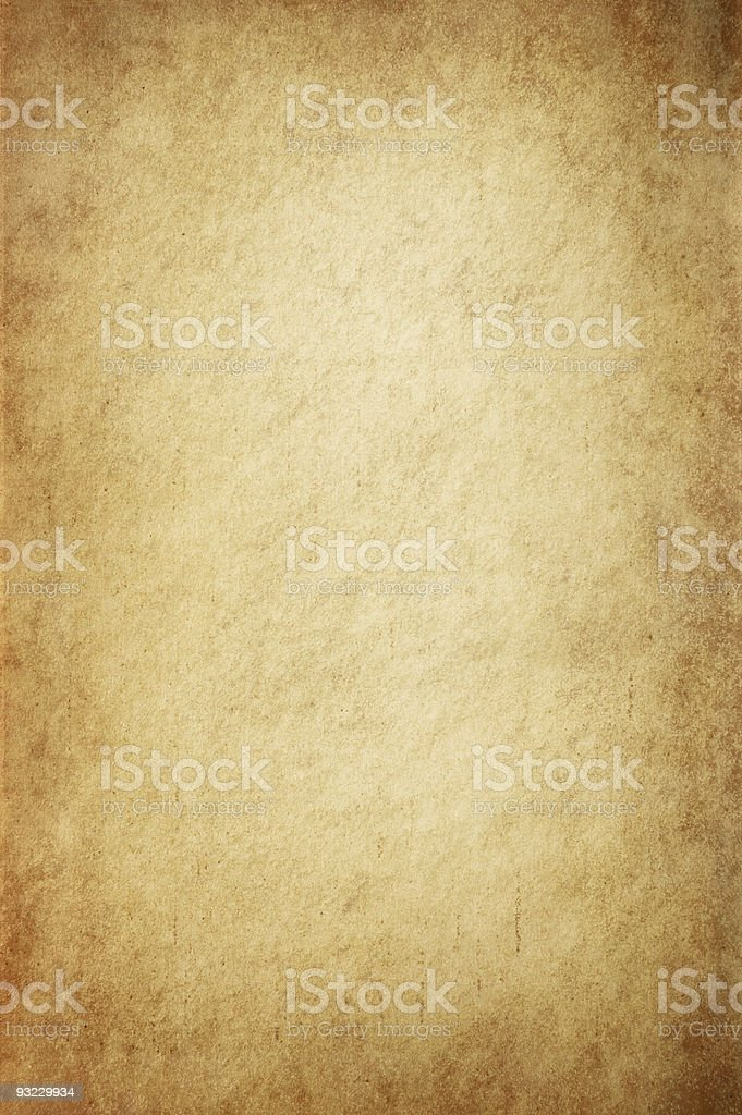Antique Yellowish Parchment royalty-free stock photo