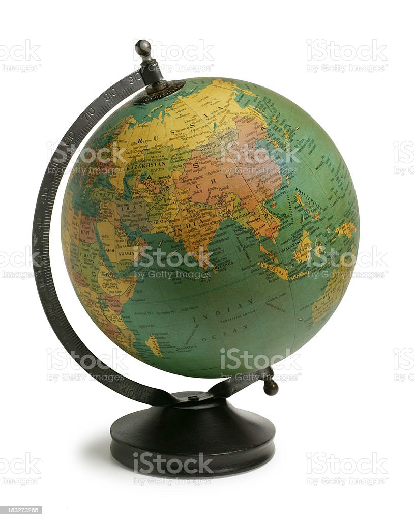 Antiqued Globe royalty-free stock photo