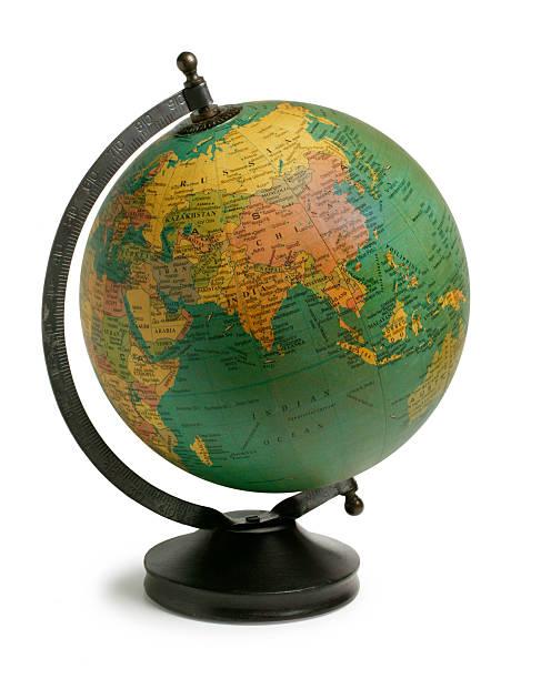 Antiqued Globe stock photo