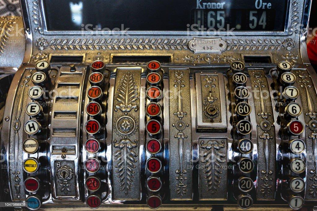 Antiquitäten - eine schöne alte Registrierkasse - Lizenzfrei Alt Stock-Foto