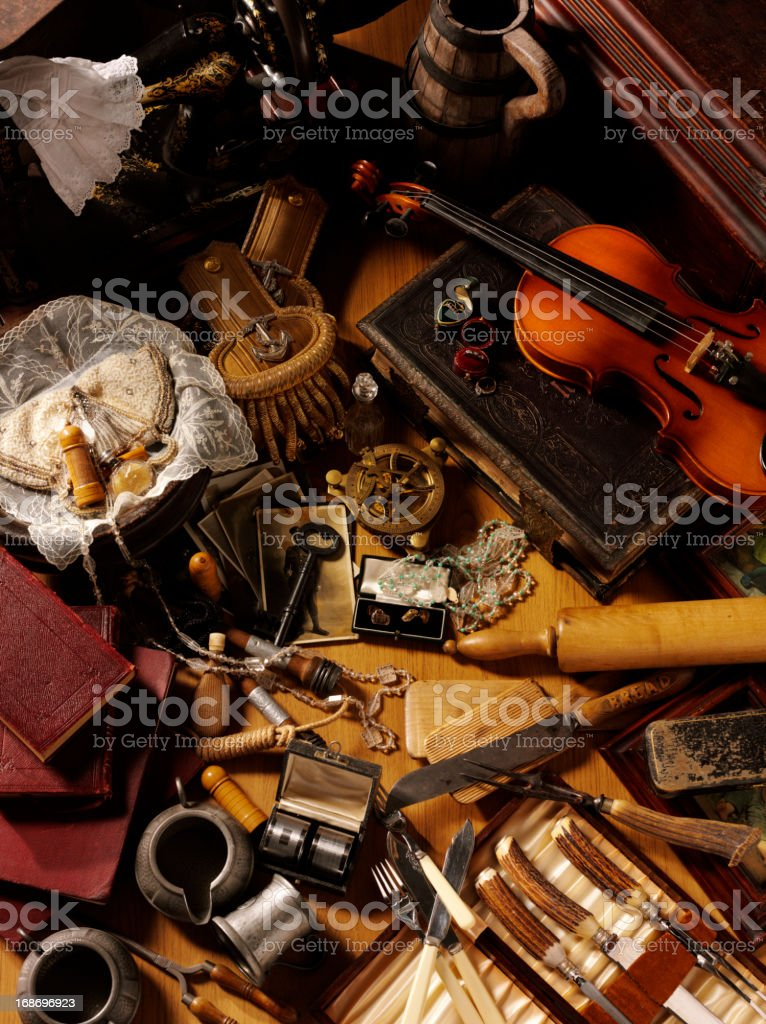 Antiques and Collectables royalty-free stock photo