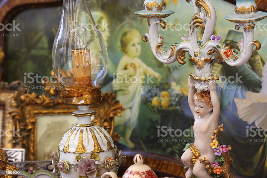 Antiques at a street market royalty-free stock photo