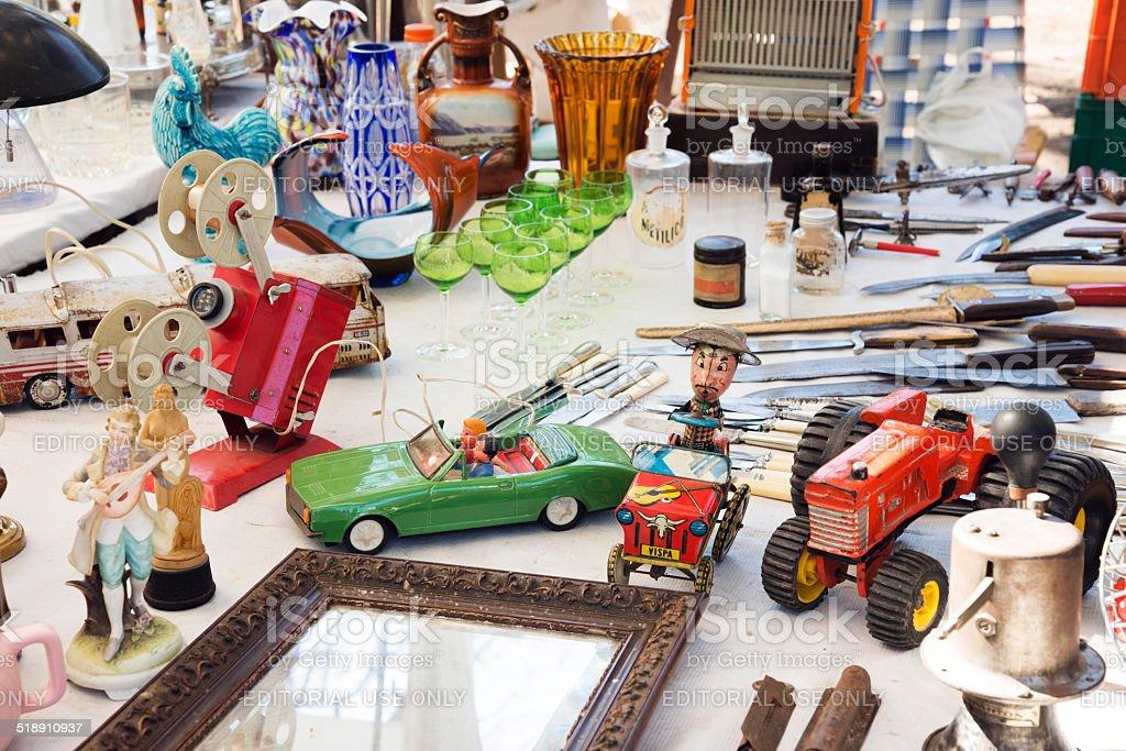 Feria de antigüedades de Retro 01 - foto de stock