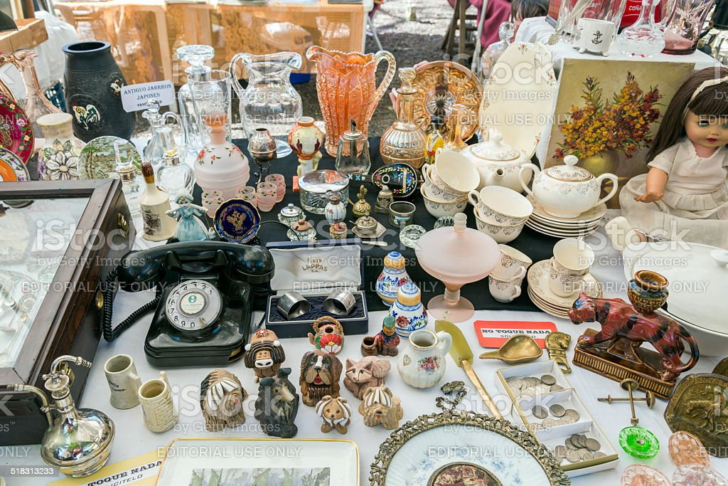 Antiques at Retro Fair 02 stock photo
