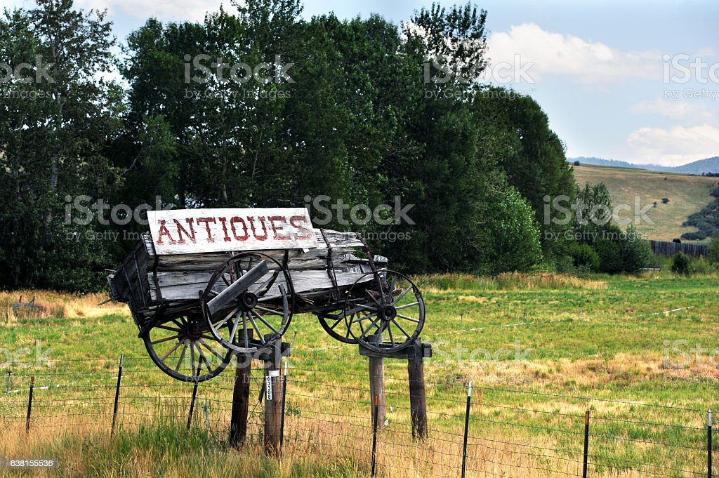 Antiques for sale stock photo