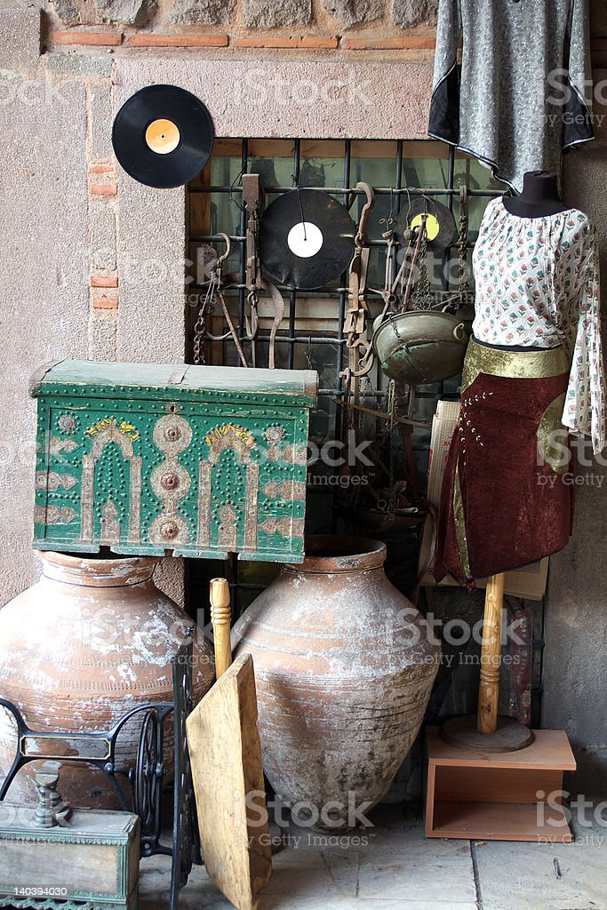 antiques shop royalty-free stock photo